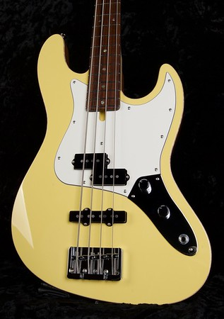 J4 Bass - Maple Top #3573, Yellow Top, Natural Mohogany Back, Grosh P/J pickups