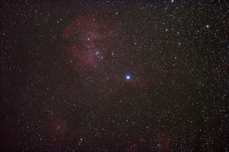 Caldwell 100 - IC2944 Running Chicken or Lamda Centauri Nebula - 1/4/2011 (Processed stack)