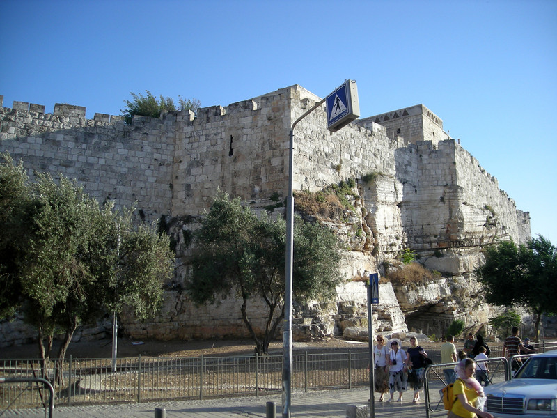 part of the old city wall from East Jerusalem