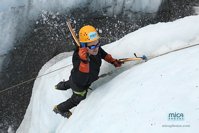 Ice Climbing with Phil and Lizzie