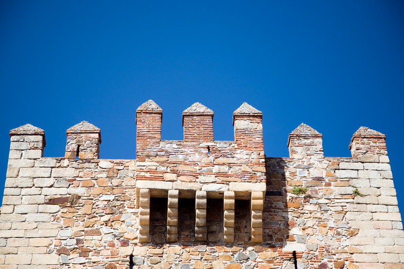 Battlements, Bujaco tower, Caceres, Spain