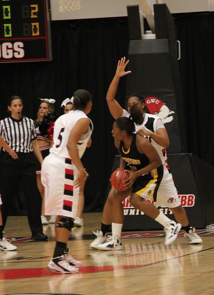 GWU on defense.
