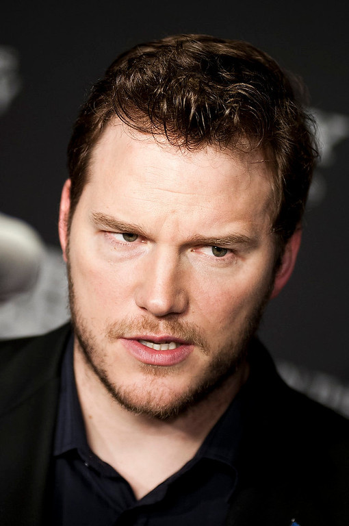 """. Chris Pratt speaks with reporters at the Newseum during the \""""Zero Dark Thirty\"""" Washington D.C. Premiere on January 8, 2013 in Washington, D.C. (Photo by Kris Connor/Getty Images)"""