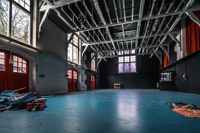 Gymgebouw oude HBS Meppel. Foto: Wim Goedhart