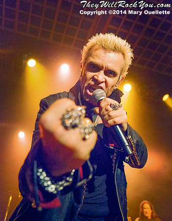 Billy Idol <br> June 3, 2014 <br> Casino Ballroom - Hampton Beach, NH <br> Photos by: Mary Ouellette