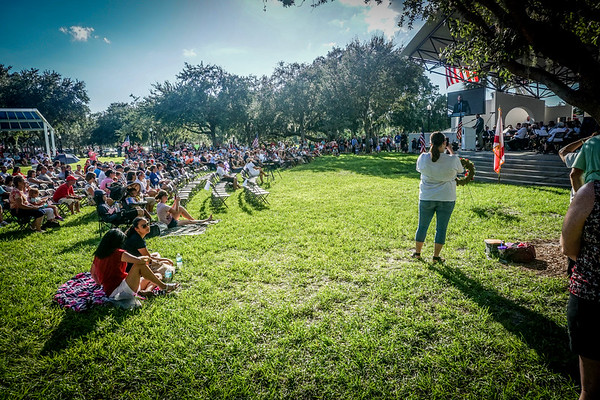 9-11 Ceramony, Sims Park, New Port Richey FL 9 11 2016