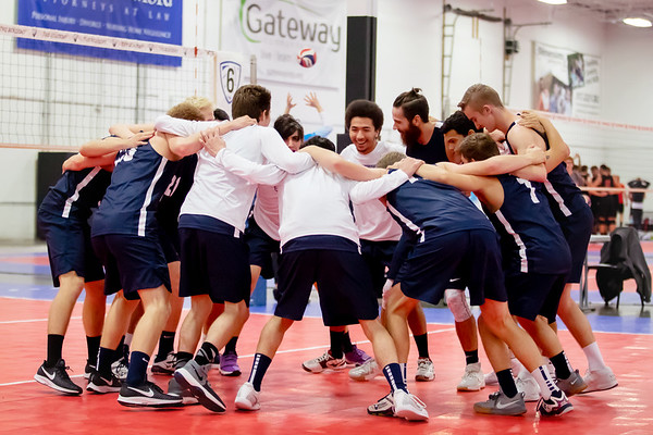 Trine Men's Volleyball pre-season game