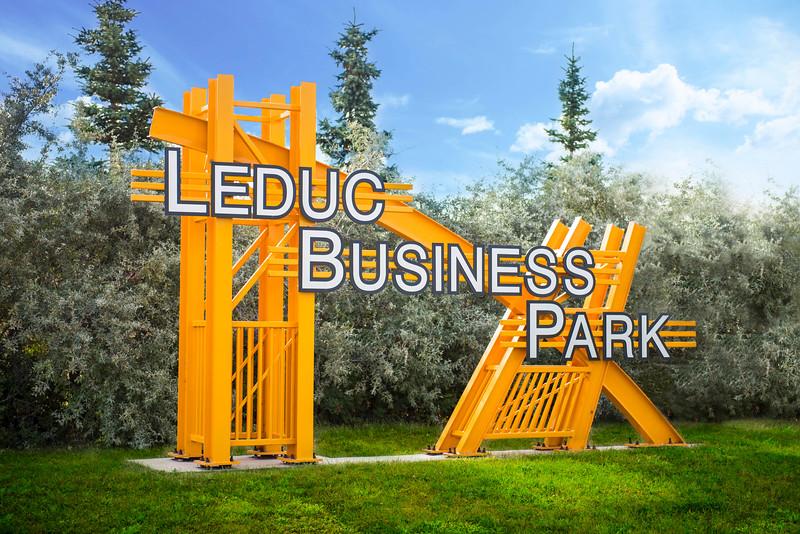 Leduc Business Park sign