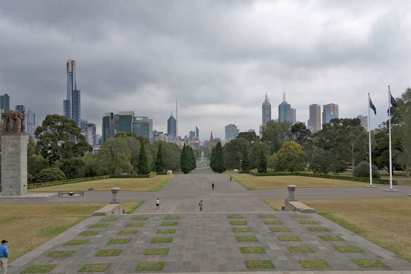 Skyline from Rememberance Hall - Melbourne, Victoria, Australia
