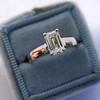 1.00ct Emerald Cut Diamond Solitaire, Platinum 4