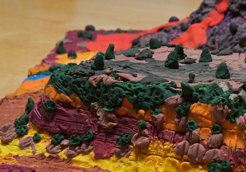 Closeup of Mesa.  All landscaping - trees and shrubs - done by Joshua.