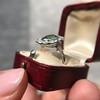 4.38ctw Art Deco Russian Demantoid & Diamond Cluster Ring 27
