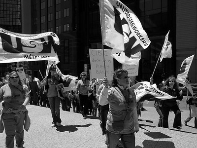 Women on Strike against CIBC Sudbury rally