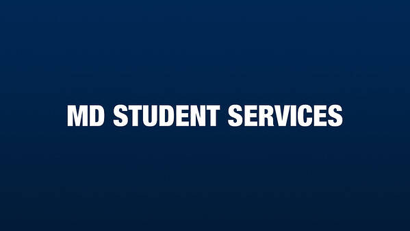 MD Student Services