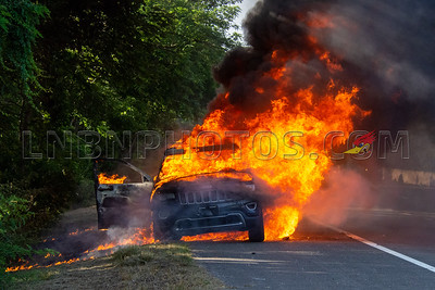 Seaford F.D. Car Fire southbound Route 135 north of Sunrise Highway 6-27-21