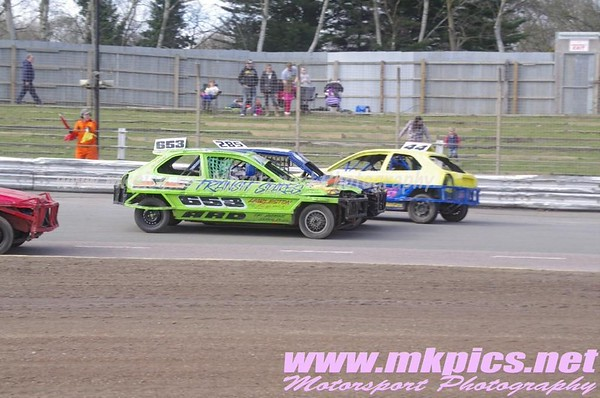 1300 Saloon Stock Cars, Ipswich, 6 April 2014
