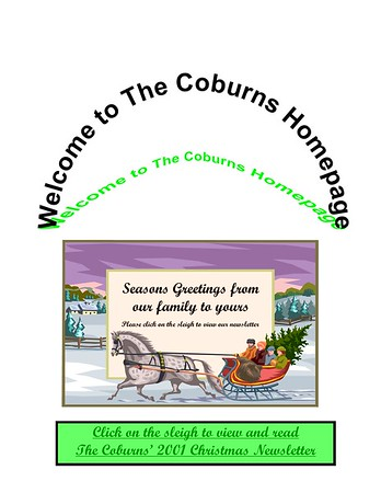 2001 Coburn Christmas Newsletter