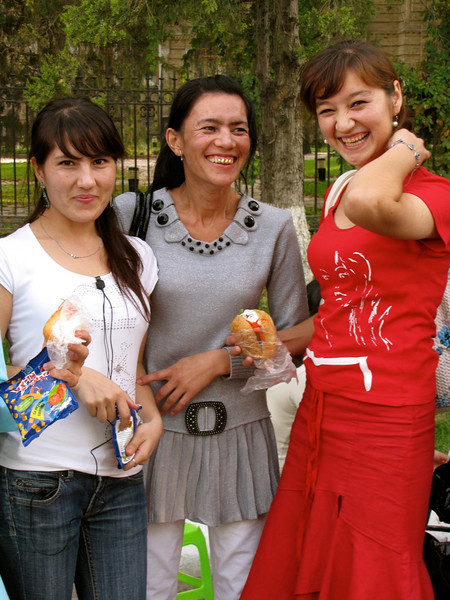 office girls on break in Tashkent