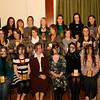 """Sacred Heart Grammer Prizegiving """"A"""" Level,  <br />  3""""A"""" Level prize winners with St Julie Mc Goldrick and Dearbhail Mc Donald (guest speaker). 06W51N67"""