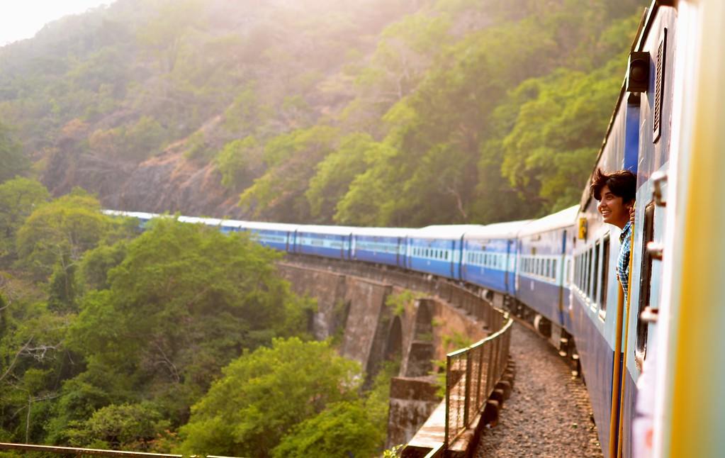 Train through India - Vegan India Trip