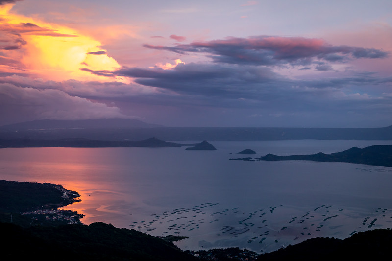 Sunset over Lake Taal