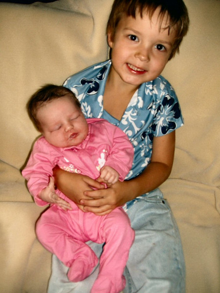 Brianna, with Hunter: 10/2006