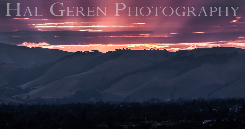 Sunrise over Fremont Don Edwards National Wildlife Refuge, Fremont, California 1407R-HS1