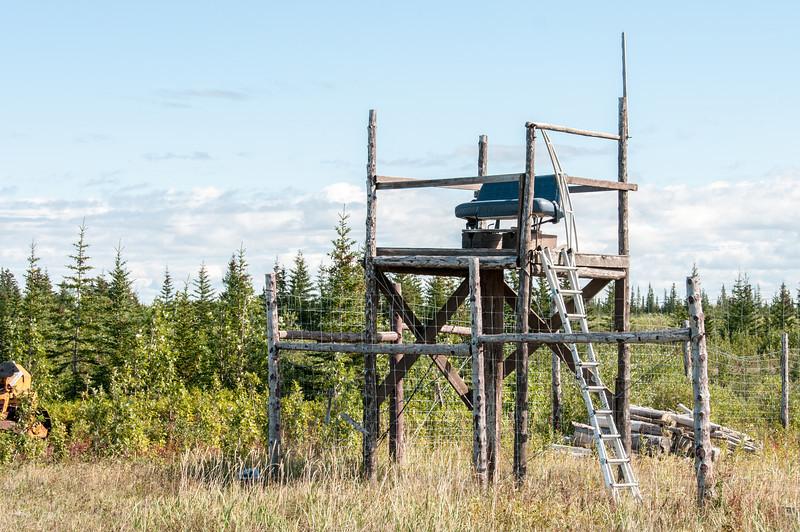 Watch tower near Nanuk Polar Bear Lodge in Hudson Bay, Manitoba, Canada
