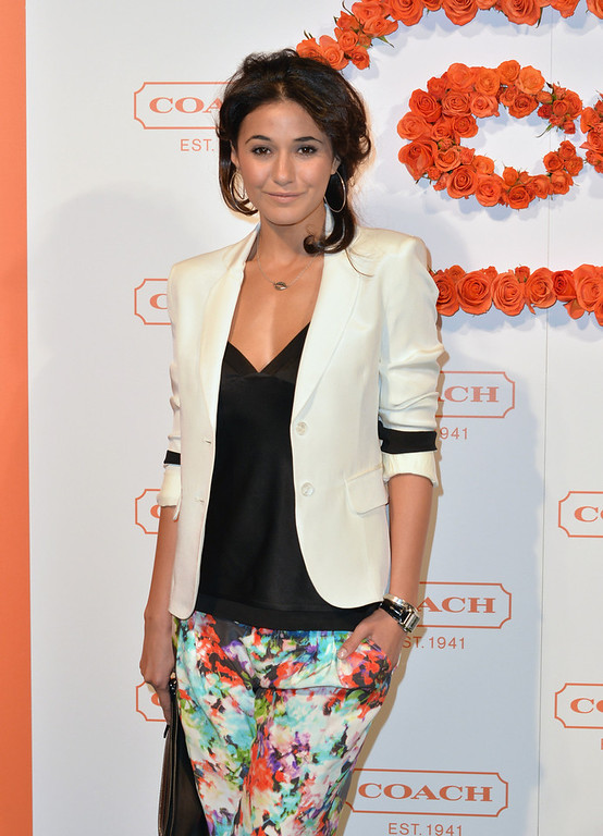 . Actress Emmanuelle Chriqui attends the 3rd Annual Coach Evening to benefit Children\'s Defense Fund at Bad Robot on April 10, 2013 in Santa Monica, California.  (Photo by Alberto E. Rodriguez/Getty Images)