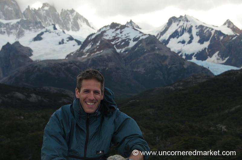 Dan Hiking in El Chalten, Argentina