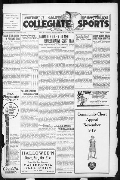 Daily Trojan, Vol. 17, No. 31, October 28, 1925
