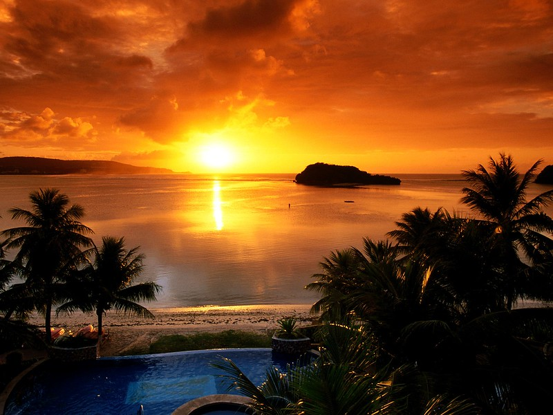 Agana Bay at Sunset, Tamuning, Guam.jpg