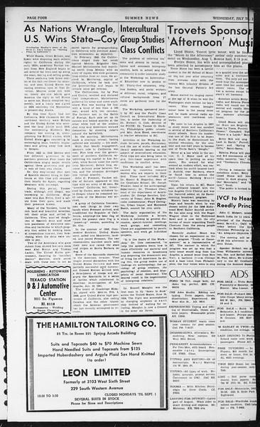 Summer News, Vol. 1, No. 16, July 31, 1946