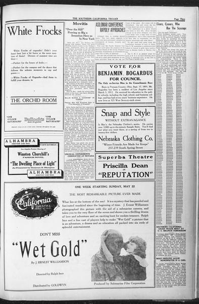 The Southern California Trojan, Vol. 12, No. 82, May 20, 1921