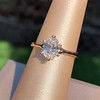 1.05ct Oval Cut Diamond Solitaire, GIA H SI1 1