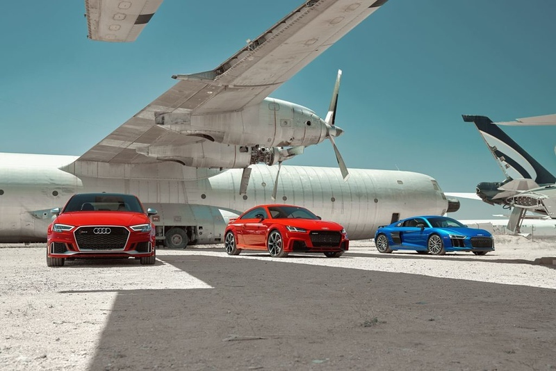 """Webb Bland 2018 www.notbland.com """"High noon in an airplane graveyard, spacing each car between stark wing shadows. The only thing missing is the abysmal HDR and VIGNETTING OH GOD HOW DID I FORGET THE VIGNETTING??! Shot for Audi.""""."""""""