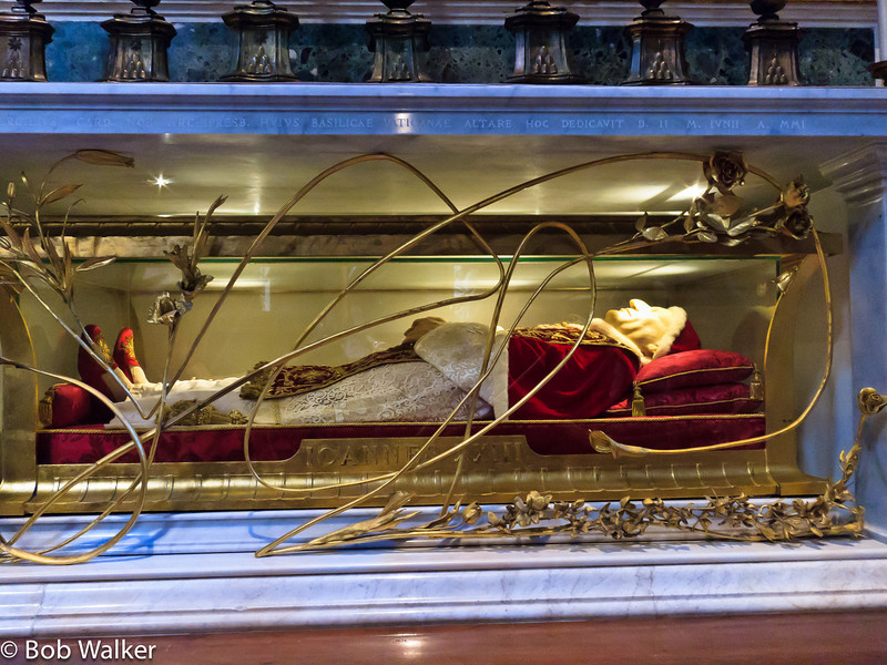 The body of Pope Bl. John XXIII, who died in 1963 and was beatified on September 3, 2000
