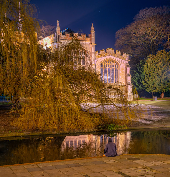 St Mary's Church and River Hiz, Hitchin, Hertfordshire