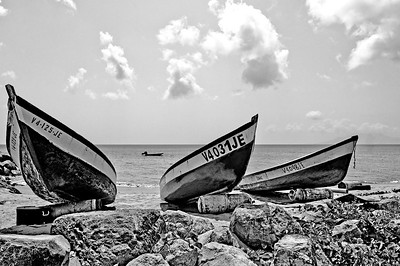 Boats on the Beach in Nevis