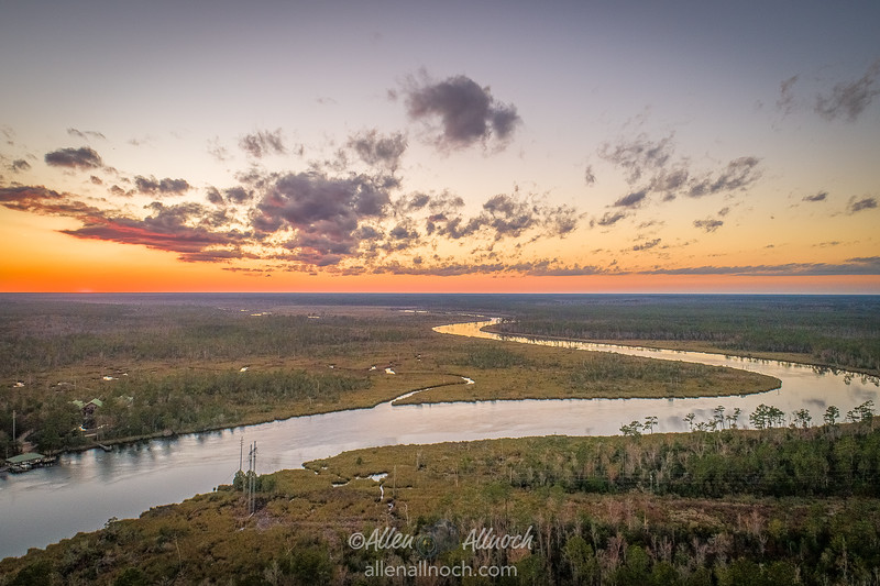 Aerial View over St. Marys River