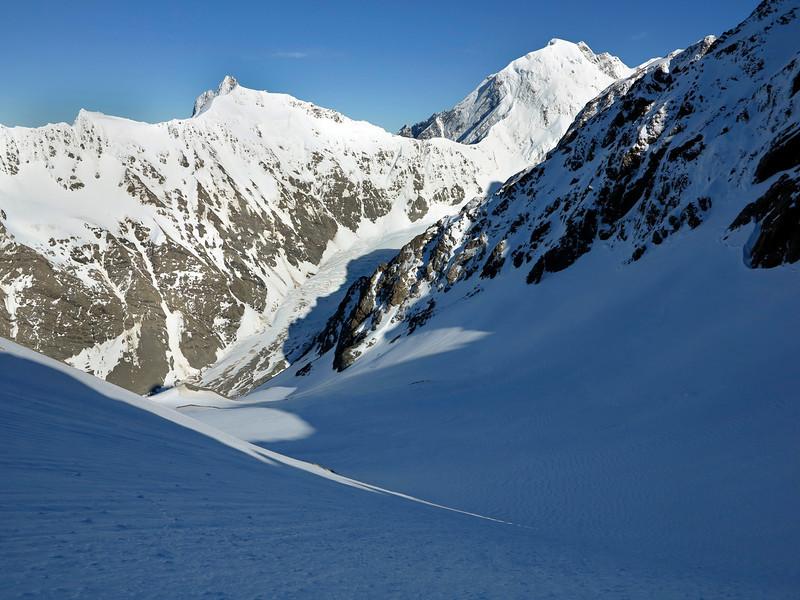 Mt Dilemma and La Perouse from below Pibrac