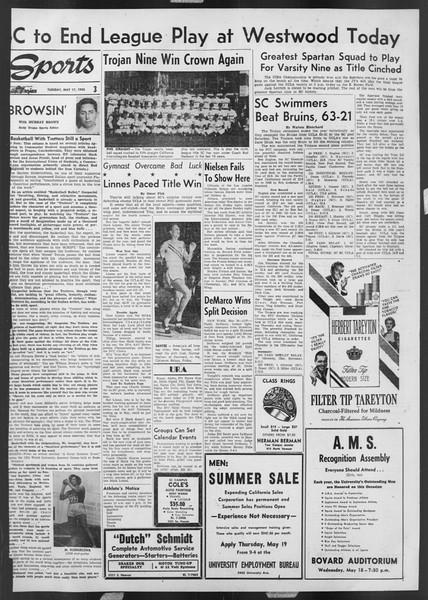 Daily Trojan, Vol. 46, No. 137, May 17, 1955