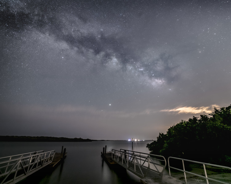 """Boat Ramp Milky Way"