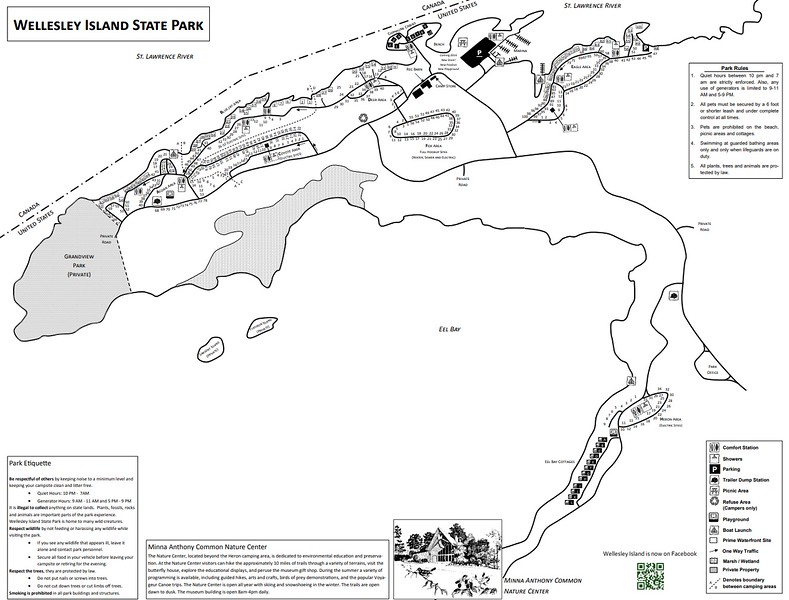 Wellesley Island State Park (Campground Map)