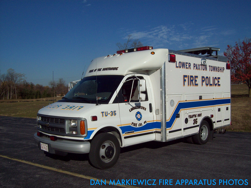 LINGLESTOWN FIRE CO. TRAFFIC 35 2001 CHEVY/SPARTAN BODY WORKS TRAFFIC UNIT