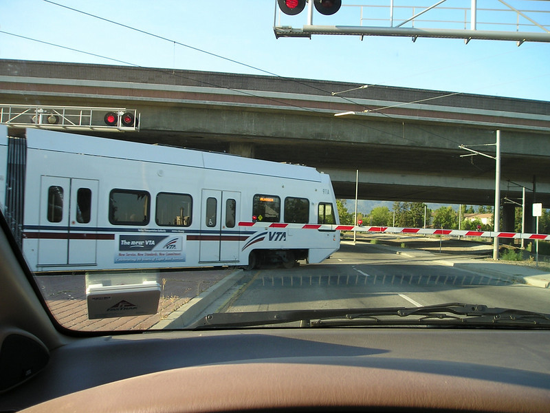 Had to wait for the light rail to zippity-zap on by.