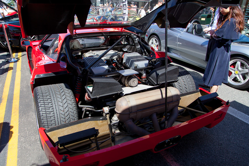 The heart of the Ferrari F40