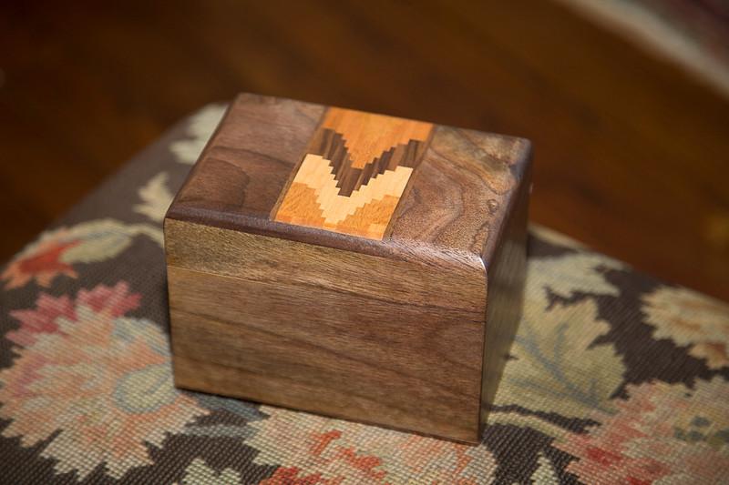 Walnut Recipe Box with Doug Stowe Inlay