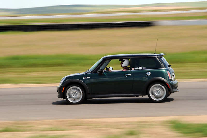 Fred and his British Racing Green MINI, but wait, it's not a race today.
