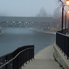 Foggy morning to the bridge